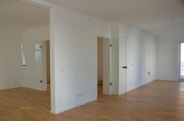 Blick in eine der drei modernen Wohnungen