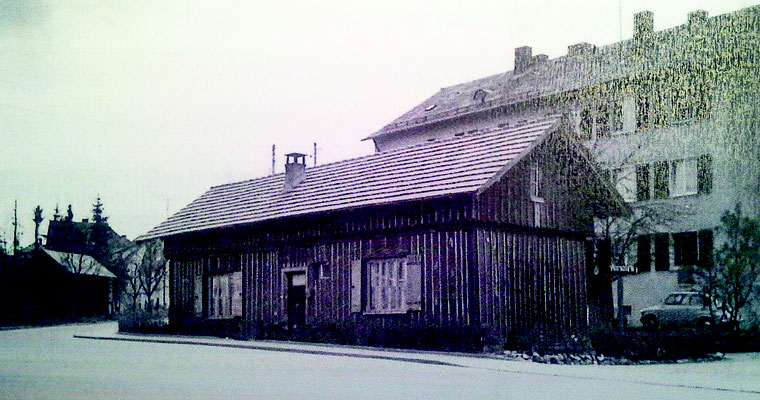 der Bahnhofsschuppen  Anfang des 20. Jahrhunderts -  Quelle: Stadtarchiv Ravenburg