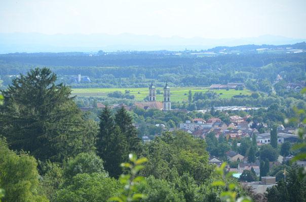 Foto: Dr. Dietmar Hawran, Blick vom Gartenhaus zum Bodensee und den Alpen