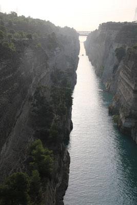 Der Klassiker unter den Kanal von Korinth Fotos