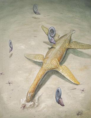 Arminisaurus life reconstruction by Joschua Knüppe