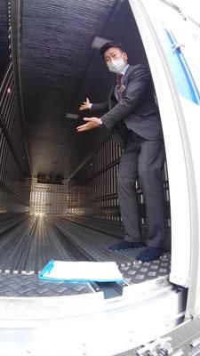 大金運輸 冷凍トラックの中