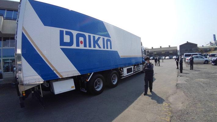 大金運輸 新車トラック納車