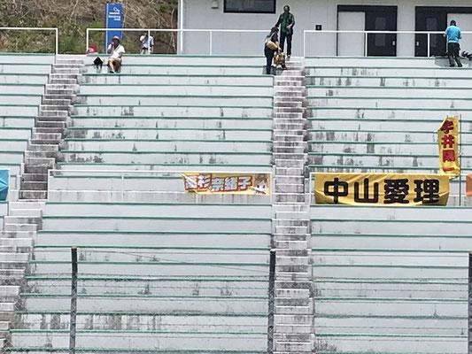 スポーツランドSUGO 高杉奈緒子横断幕