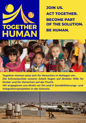 Together Human, Flyer 2020 (Bilder: Sira Huwiler-Flamm)