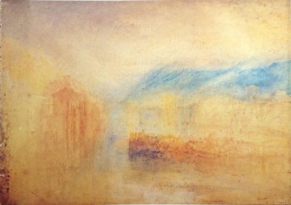 Turner, Grenoble, essai de couleur, vers 1824, 50,4 x 71,1
