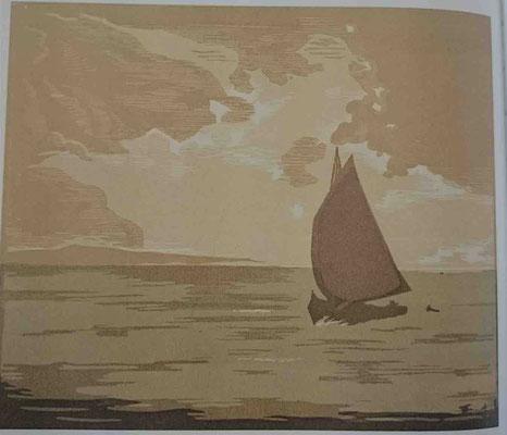 Bégule, Marine par temps gris, 1936, 110 ex, 176x208
