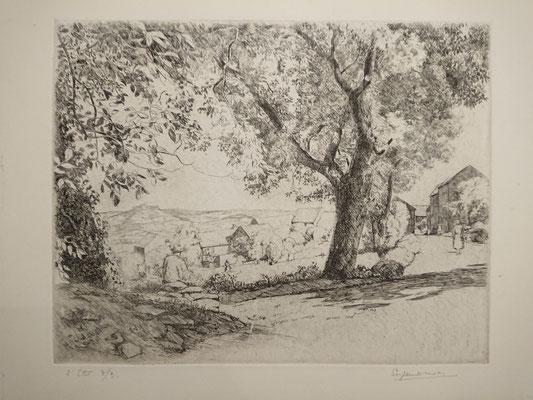Paysage de Vézelay, 20,2 x 26,4