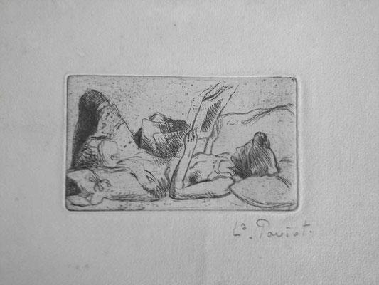 Paviot, La liseuse allongée, 5,5x9,2.