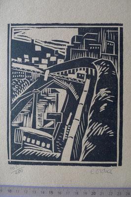 Didier, paysage urbain, bois, Album Ziniar nov. 1920.