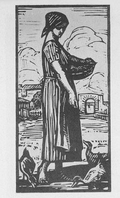 Janin, La paysanne, bois, 1924