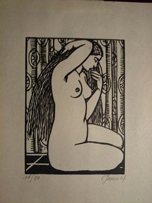 Janin, Nu, 1927, 14 x 10,4.