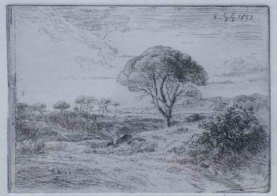 Girardon, Paysage de Provence, 1853
