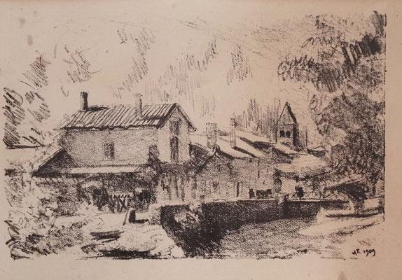 La maison de H. Blanc-Fontaines, 1909, 20 x 29 cm.