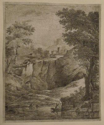 7. La cascade et le batelier, 1er état, 126 x 100.