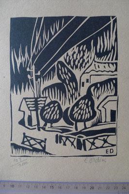 Didier, paysage, bois, Album Ziniar, nov. 1920.