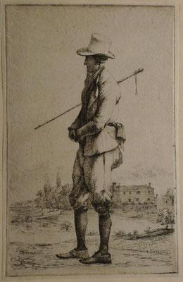 9. L'homme à la badine, 1er état, 135 x 86.