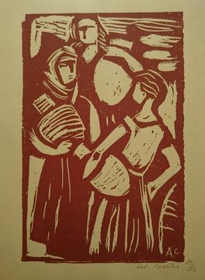 Chartres, Femmes aux cruches en Espagne.