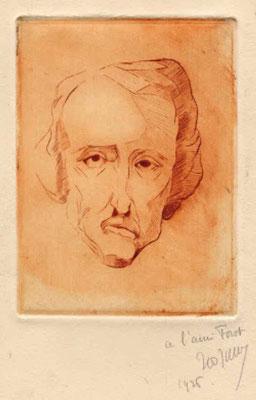 Jullien, Portrait d'Edgar Poe, 1926.