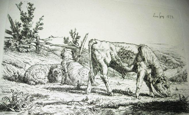 Guy, les vaches au pré, 1853
