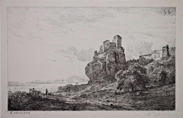 "Girardon,  ""Album Le Rhône"", Rochemaure, 16,6 x 25"