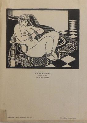 Migonney, Messaouda, 28,5x20,  Supplément à Art et Décoration, juin 1920