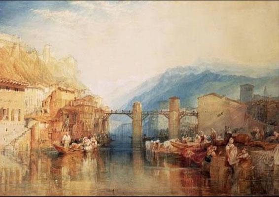 Turner, Grenoble, aquarelle, 1824, 53 x 71,7
