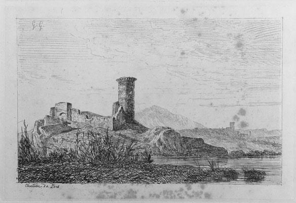 "Girardon,  ""Album Le Rhône"", Chateau de Lers, 13 x 20"