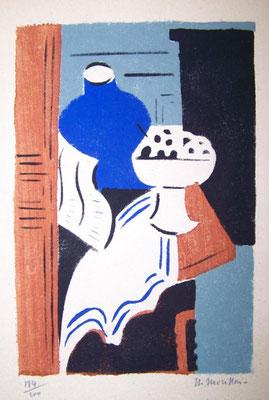 Morillon, le compotier, pochoir, Album Ziniar février 1921.