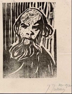 Jullien, Portrait de Verlaine, bois, 1922.