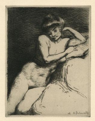 Etude de nu, 1908.