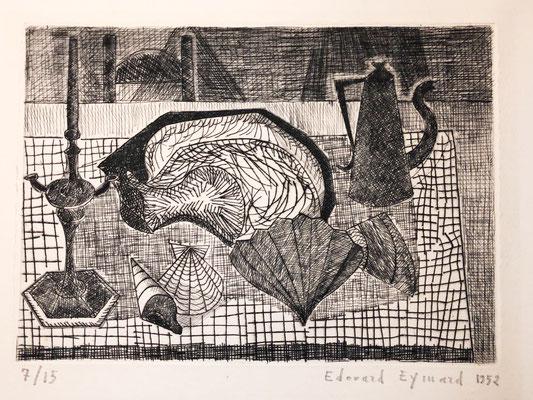 Eymard, Nature morte aux coquillages, 1952.