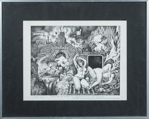 Sans date. La destruction de Sodome et Gomorrhe, lithographie, 33 x 42,5.