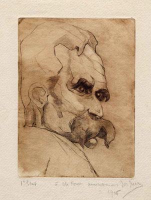 Jullien, Portrait de Nietzsche, eau-forte, 1926