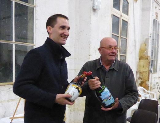 Nicolas Pinquier et Pierre-Jean Michaux, créateurs des 2 lots du tirage au sort