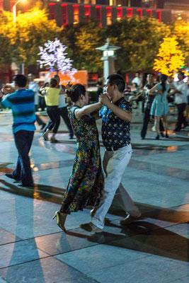 Xi'an Tanz auf offener Strasse