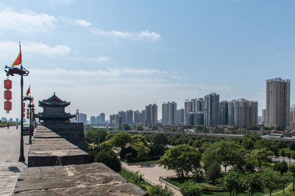 Auf der Stadtmauer von Xi'an