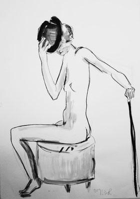 O.T., 2009, Bleistift & Aquarell auf Papier, 42 x 59 cm