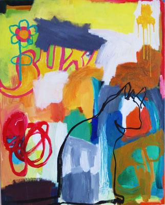 NICE PAINTING, LISA, 2014, Acryl auf Leinwand, 80 x 100 cm