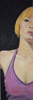SELBSTPORTRAIT, 2007, Öl auf Leinwand, 30 x 90 cm