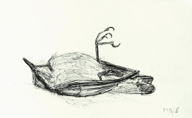 O.T., 2008, Kugelschreiber auf Papier, 13 x 21 cm