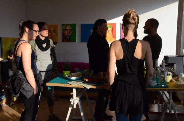 ..während der Open Ateliers 2017 in meinem Atelier.