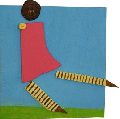 LEICHT WIE DER WIND, 2012, Acryl auf Holz, ca. 17 x 18 cm