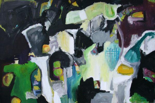 O.T., 2008, Acryl auf Leinwand, 80 x 120 cm