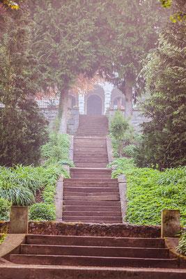 Treppe zur Villa Haar, einer tollen Hochzeitslocatuon in weimar