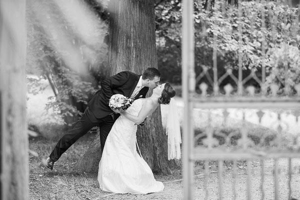 Paar beim Hochzeitsshooting