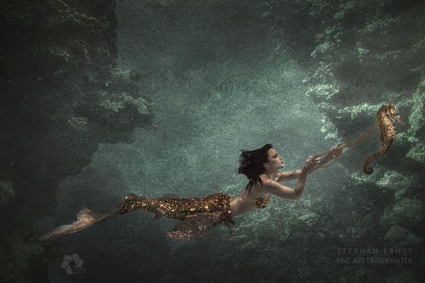 Unterwasser Composings Meerjungfrauen