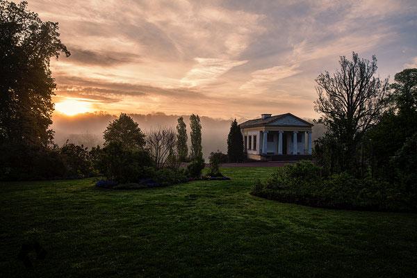 Das römische haus bei Sonnenaufgang