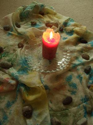 Kerze in der Mitte