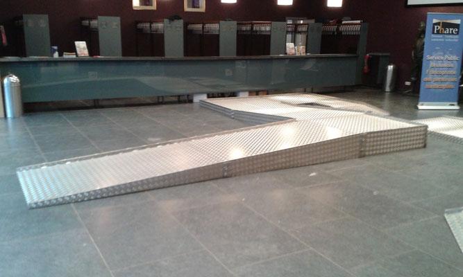 Photo de la structure en aluminium permettant de tester la difficulté de se déplacer